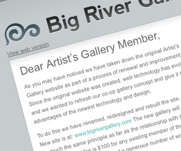 Big River Gallery Email